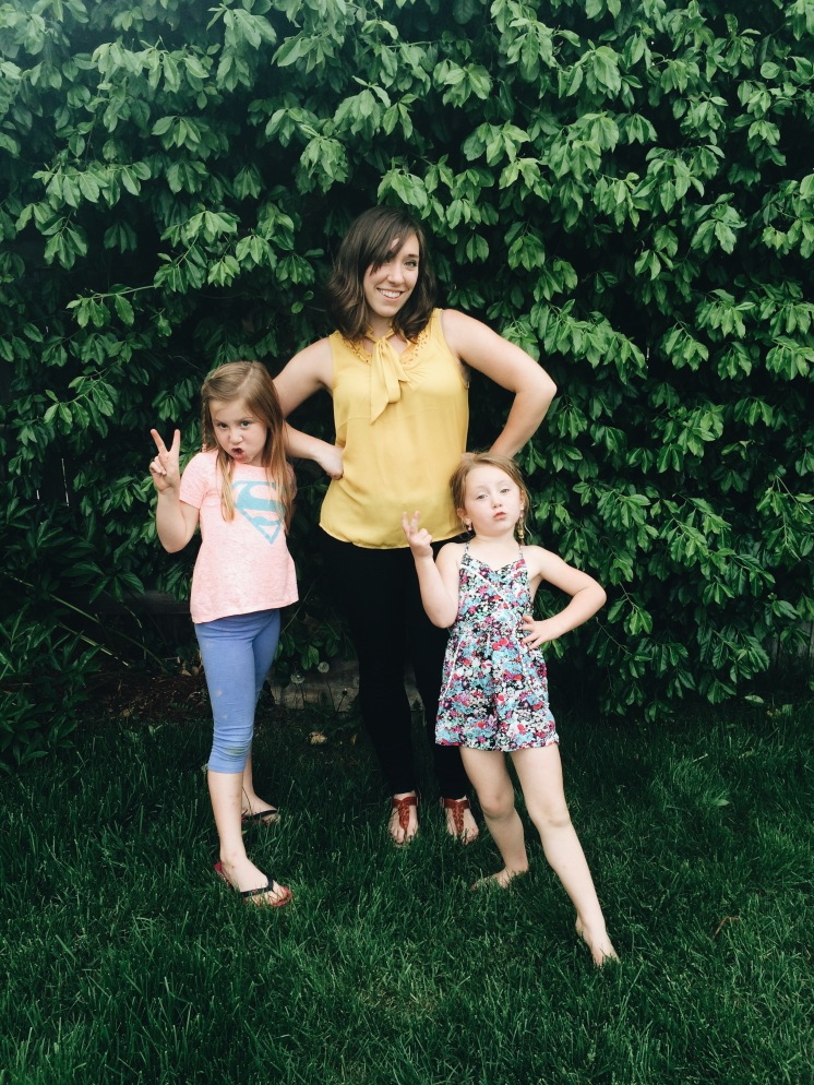 Hanging with my main chicks - it was fun to see these two and catch up with their parents