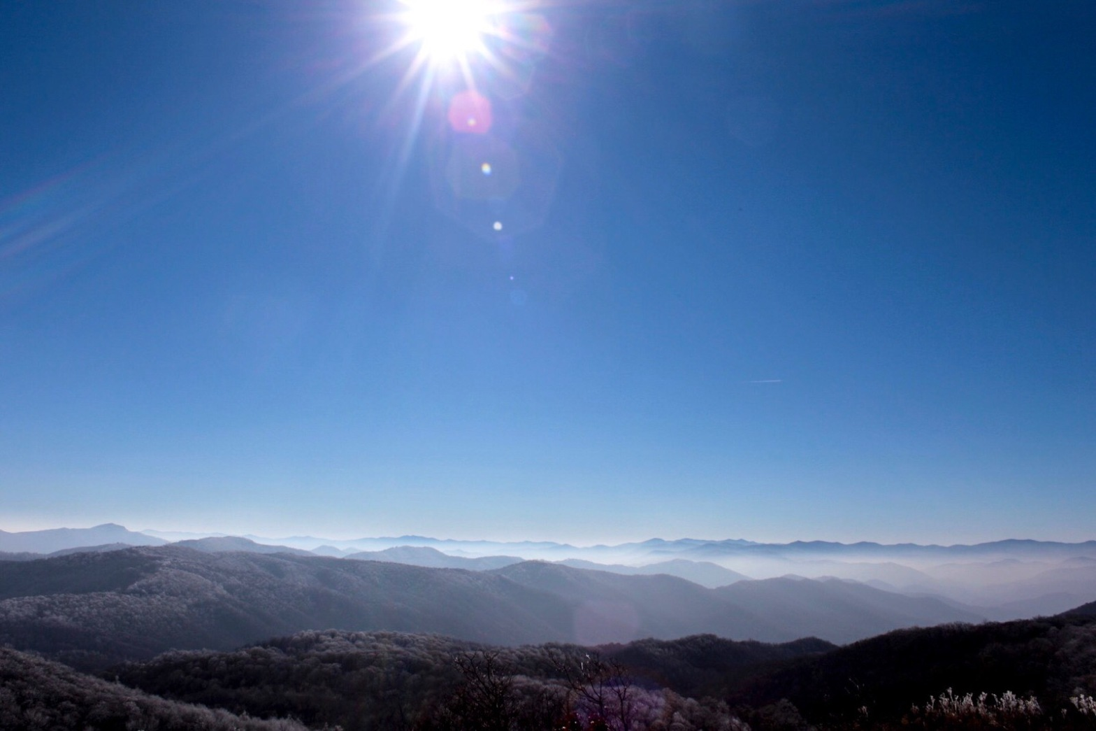 View of the Smokey Mountains from Max Patch