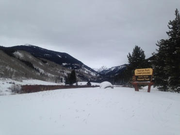The trailhead from Eagle, Colorado