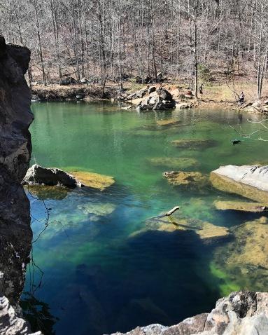 Green lake at Pine Log Creek and Quarry