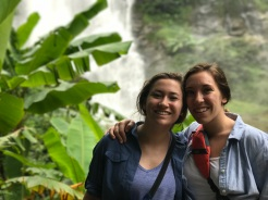 Leah and I at the big waterfall