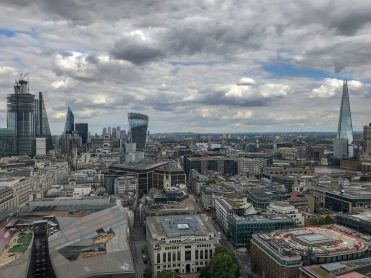 This is the view from the golden gallery of St. Pauls Cathedral